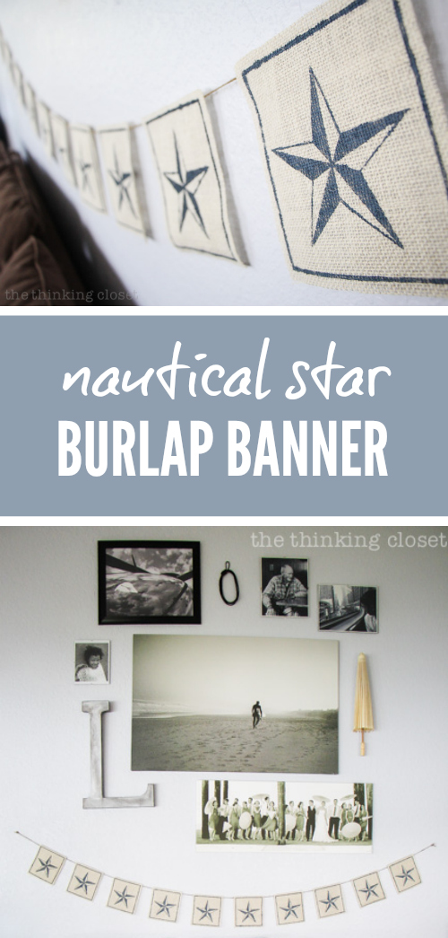 Nautical Star Burlap Banner: Stencil Material Tutorial