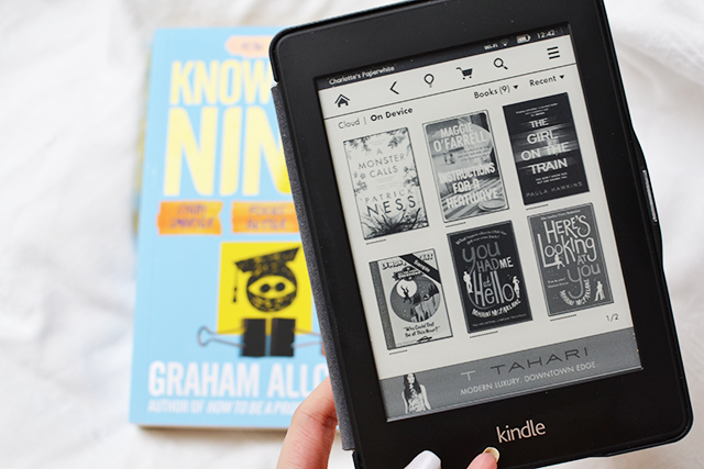 reading book blogger kindle paperwhite