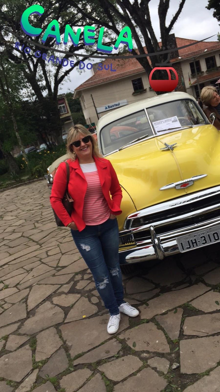 Exposição carros antigos em Canela