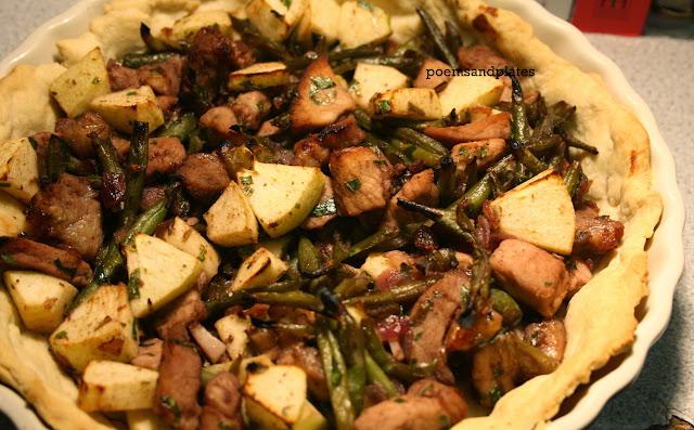 Open Pork and Tarragon Tart