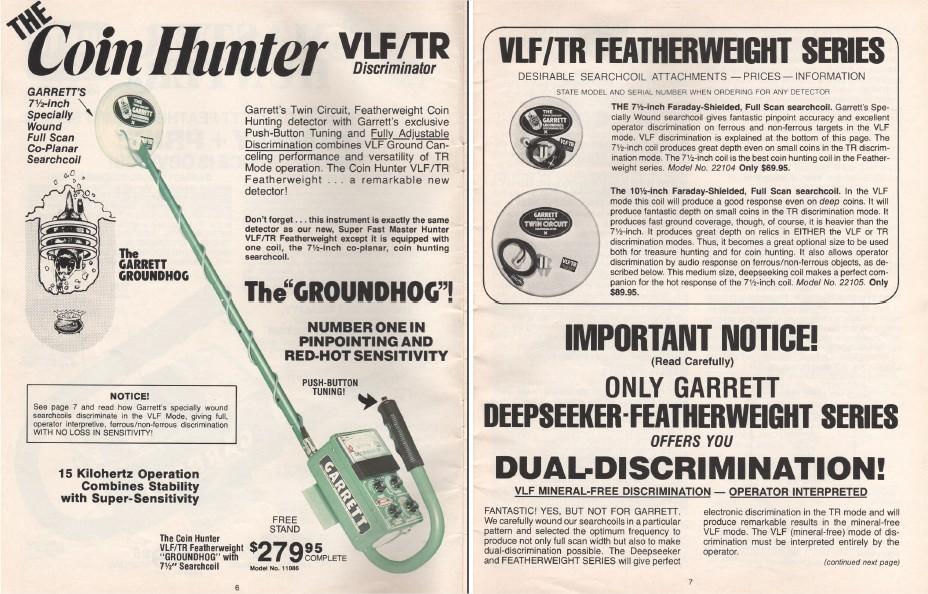 Detector Master Tr Vlf Hunter Vintage Metal Garrett