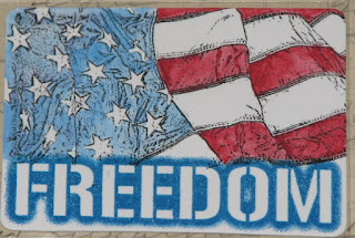 CraftyColonel Donna Nuce, Artists Trading Card, Freedom, Club Scrap stamps