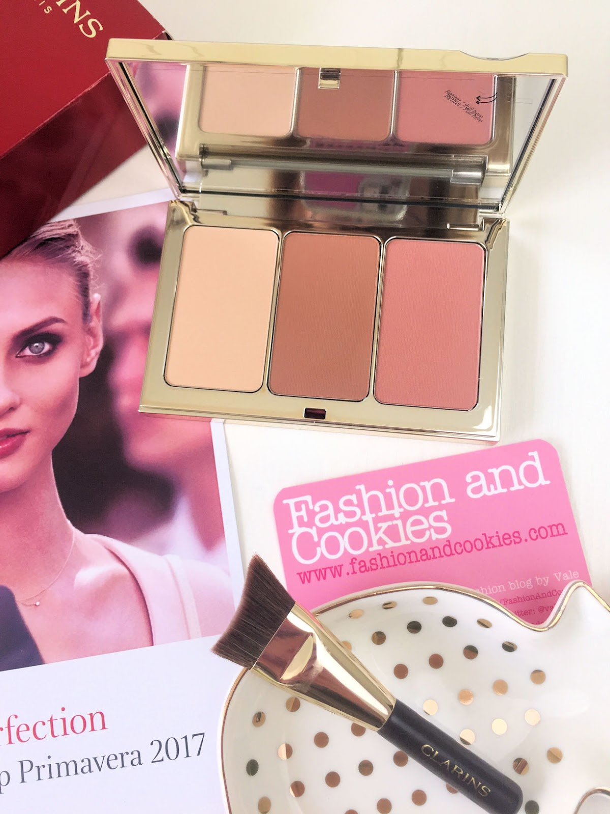 Clarins Palette Contour Visage makeup Spring 2017 su Fashion and Cookies beauty blog, beauty blogger
