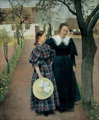 L.A. Ring, Spring. Ebba and Sigrid Kähler (1895) Hirschprung Museum (Copenhagen) Copyright: Hirschprung Museum