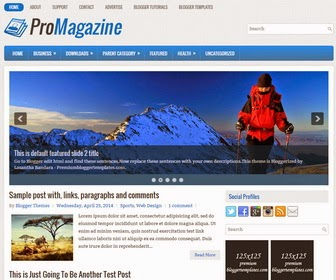 Promagazine Blogger Template