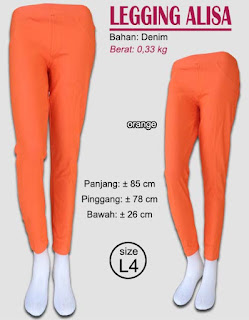 Model Legging polos cantik bahan denim-alisa