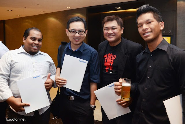 A couple of us, the manly men at the Philips Shaver Series 9000 launch event.