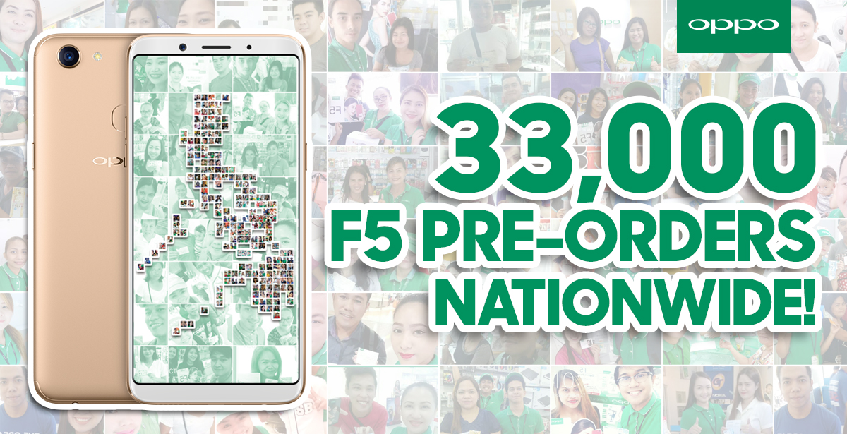 OPPO F5 achieved record-breaking 33,000 pre-orders in just 7 days ...
