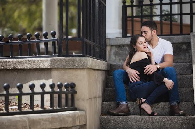 kisses on steps