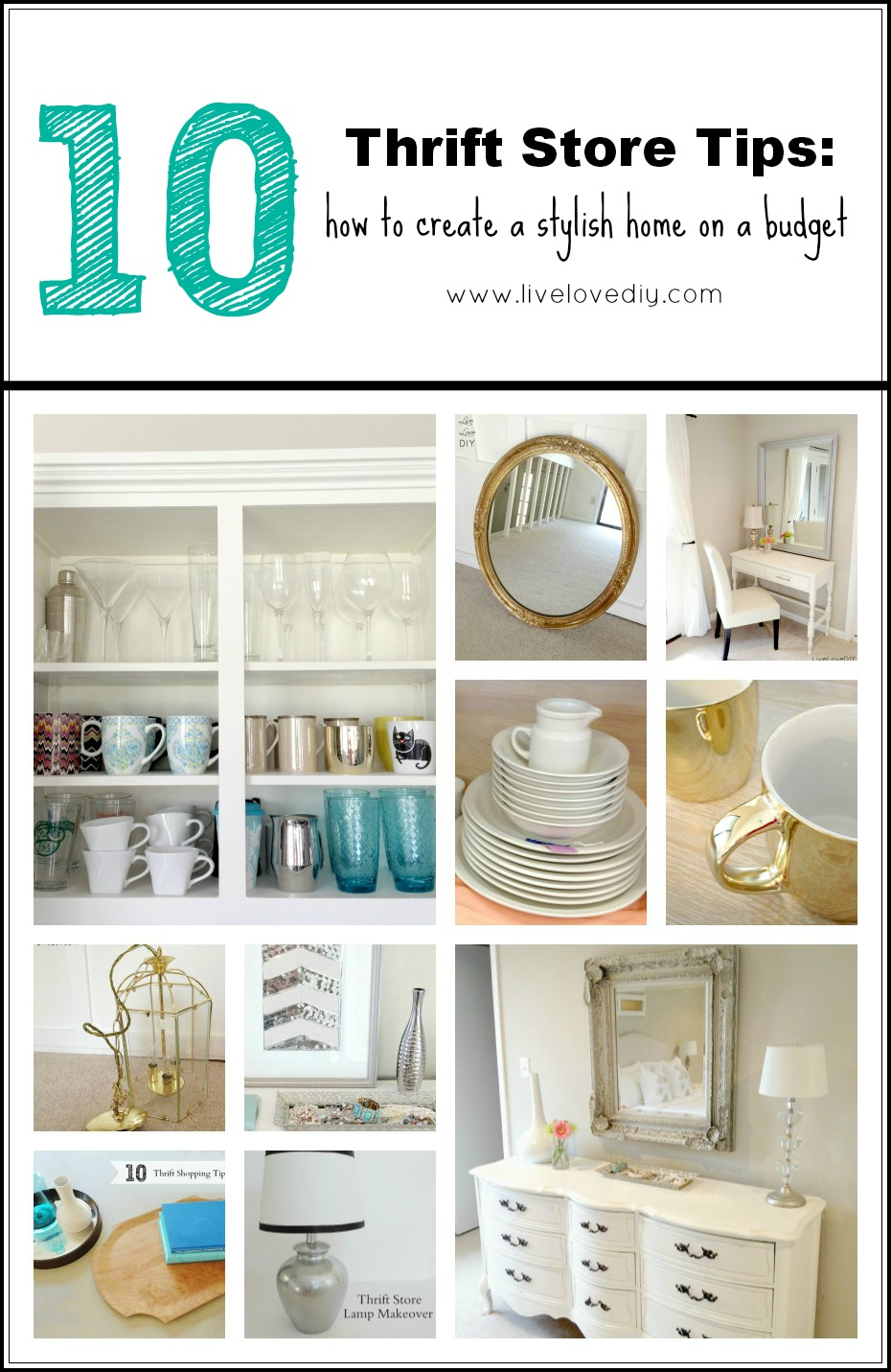 Perfect LiveLoveDIY: My Top 10 Thrift Store Shopping Tips: How To Decorate  HV92