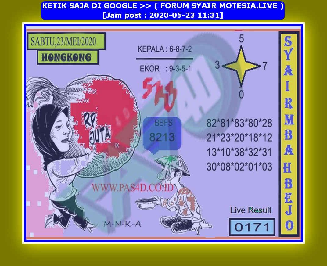 Kode syair Hongkong Sabtu 23 Mei 2020 224