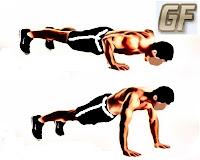 cara membentuk otot lengan dengan push up