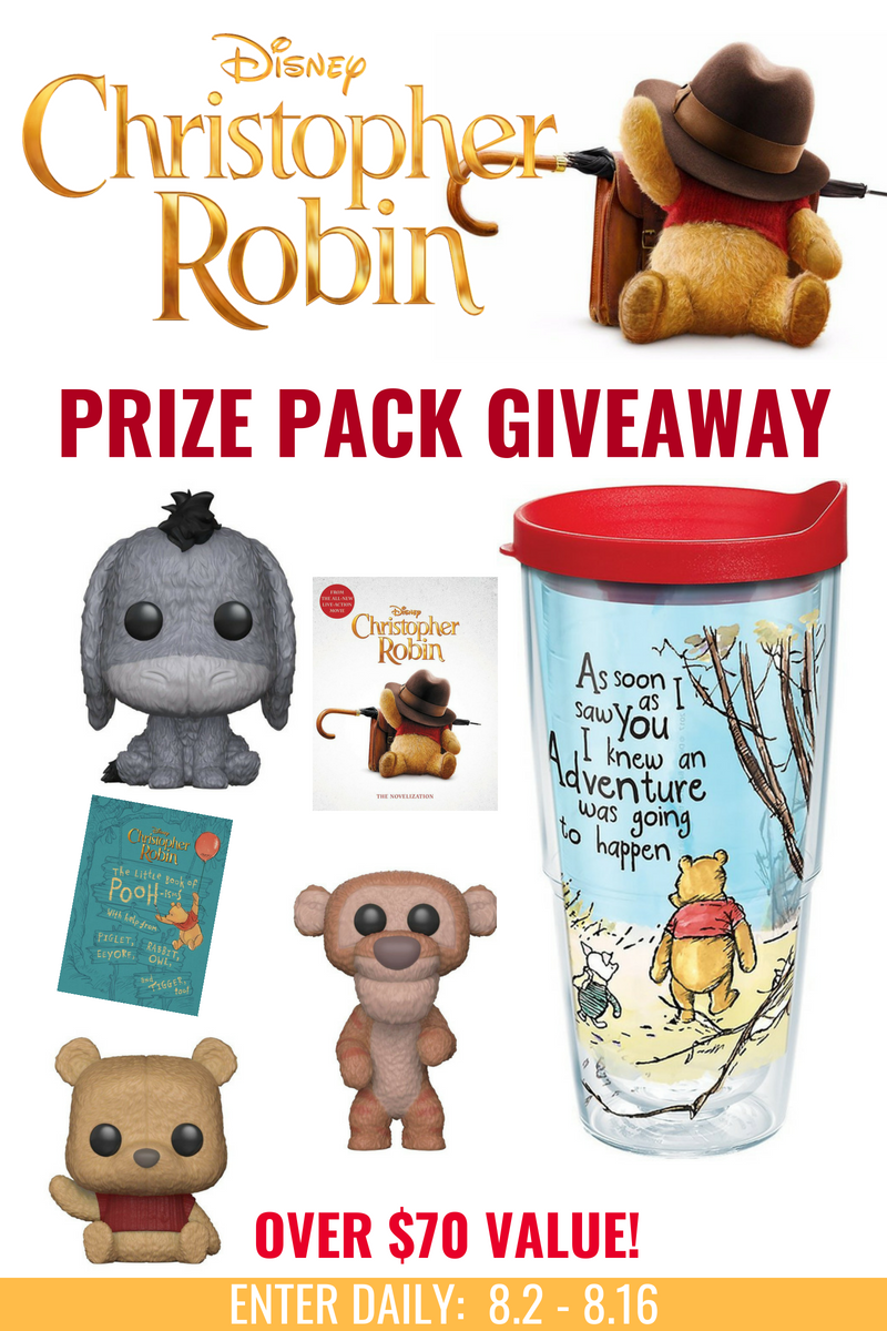 Christopher Robin Prize Pack Giveaway {PLUS Free Printable Coloring Sheets & Activities}