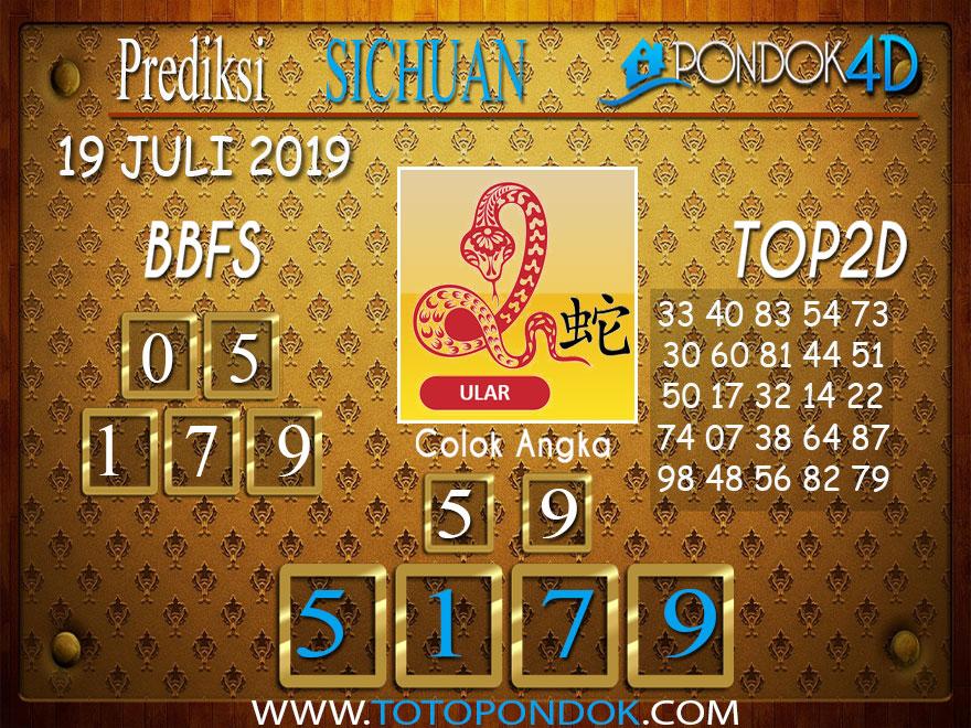 Prediksi Togel SICHUAN PONDOK4D 19 JULI 2019