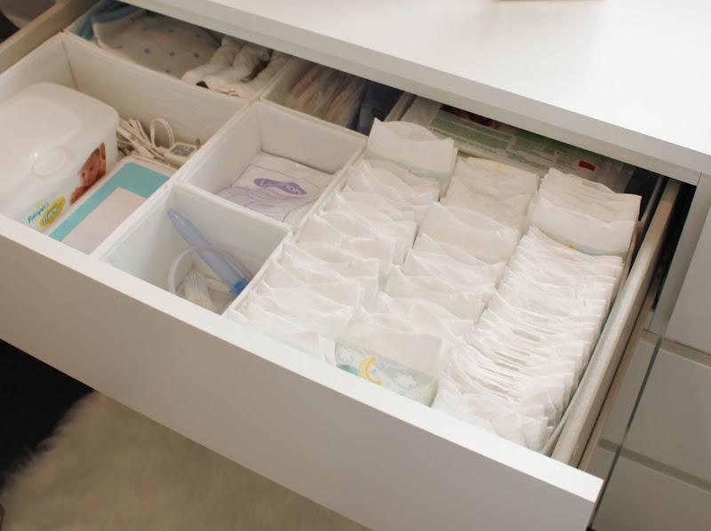 Boy Nursery Closet Organization
