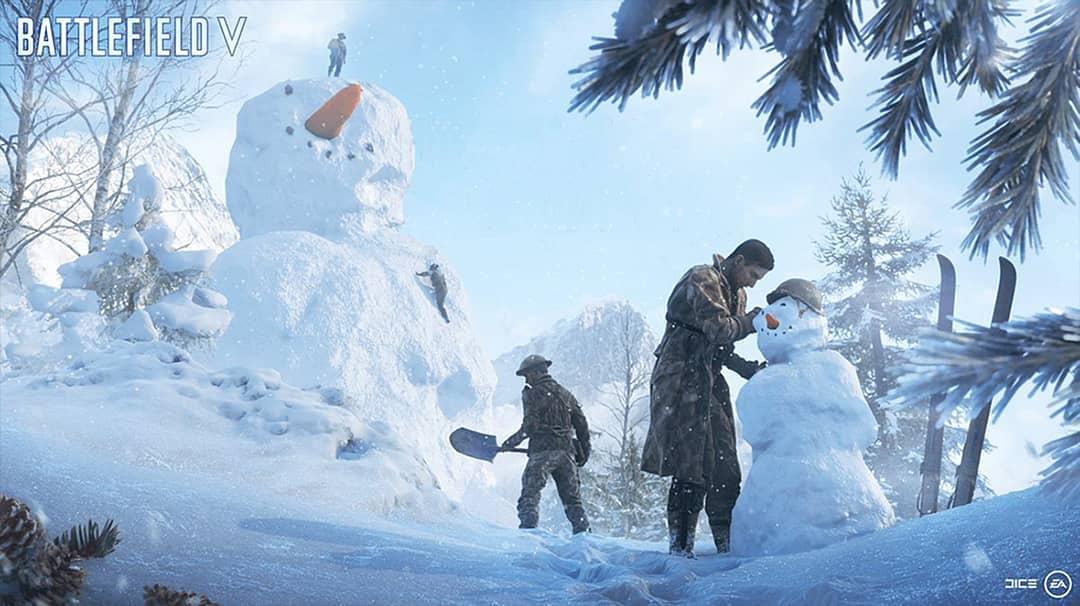 """DICE publica mensagem de Natal para a comunidade do Battlefield V e para os """"Noobs de Natal"""""""