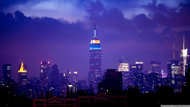 Wallpapers World Empire State Building Night Wallpaper-2560x1440