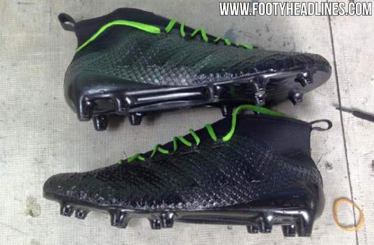 909501bcd1 The sole plate of the blackout Adidas Ace 2017 football boots is identical  to that of the 2016 Adidas Ace 16 cleats