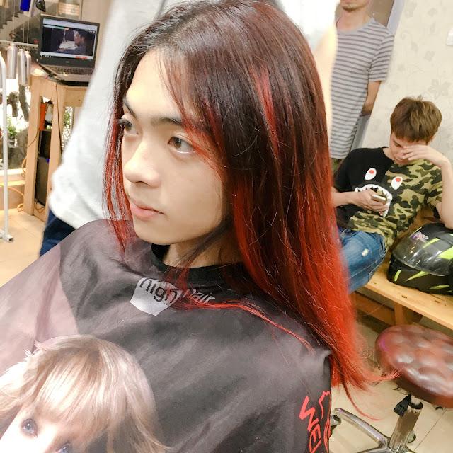 Nhuộm tóc Ombre Đỏ Lửa cho chàng trai mạng Hoả | cái kết bất ngờ | Korig...