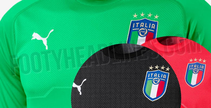c9a37d8c4 ... no goalkeeper jersey was yet launched. In addition to the black one,  we've now obtained images of two additional Italy 2018 goalkeeper kits, ...