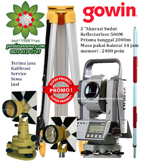 Measuring the TKS 202n Gowin Total Station Reflectorless 500M