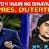 MR. RIYOH INAMIN NA BINABAYARAN SYA NI PRESIDENT DUTERTE NG PAG-ASA AT PAGMAMAHAL! PANOORIN