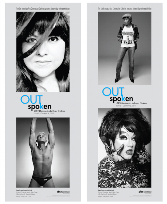 "San Francisco Arts Commission Galleries Advertising Campaign for ""OUTspoken"" Exhibition"