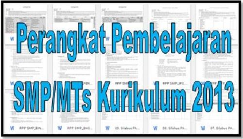 Downlaod Perangkat Pembelajaran SMP/MTs Kurikulum 2013