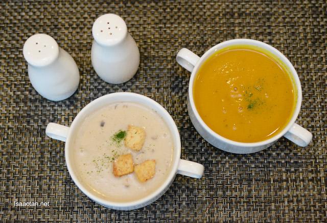 Wild Mushroom Soup & Pumpkin Soup - RM9.50 each