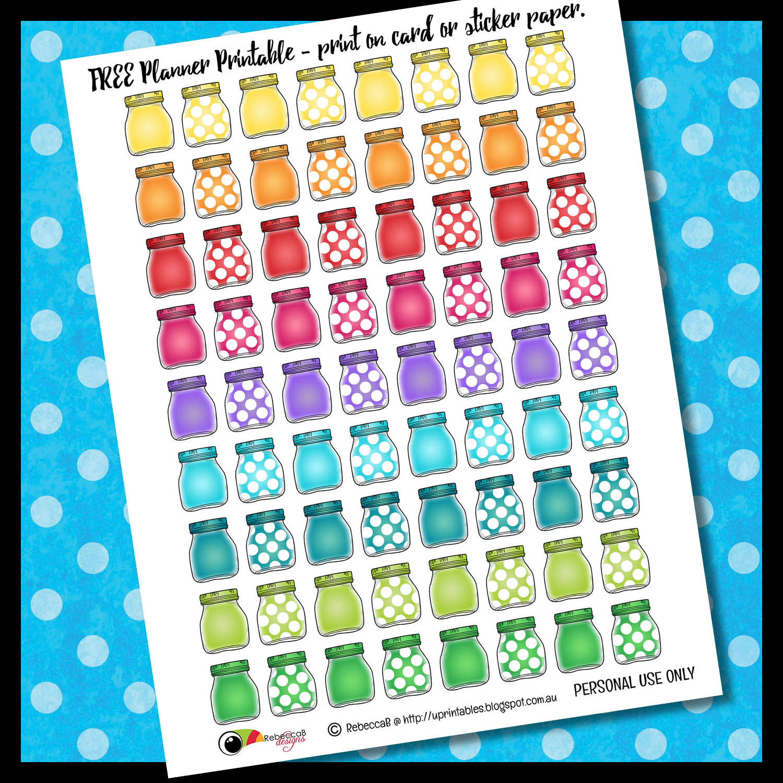 Classroom Design Planner ~ Rebeccab designs free printable planner stickers mason jars