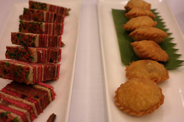 Bahulu Lapis Johor and Tembosa Daging