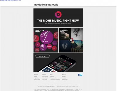 Apple Promosikan Aplikasi Beats Music Lewat Email