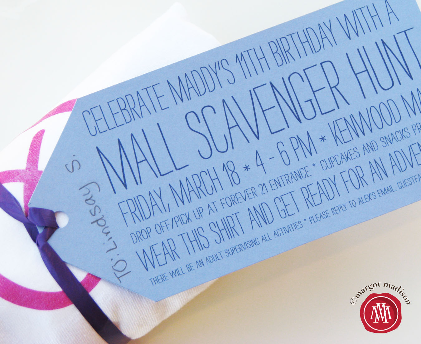 Margotmadison Mall Scavenger Hunt Party For Tweens