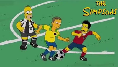 santos Simpson futbol