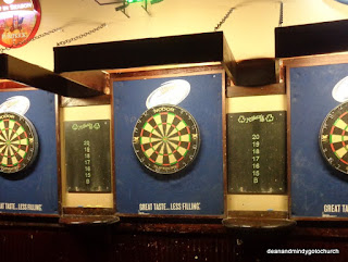 dart boards at McHale's