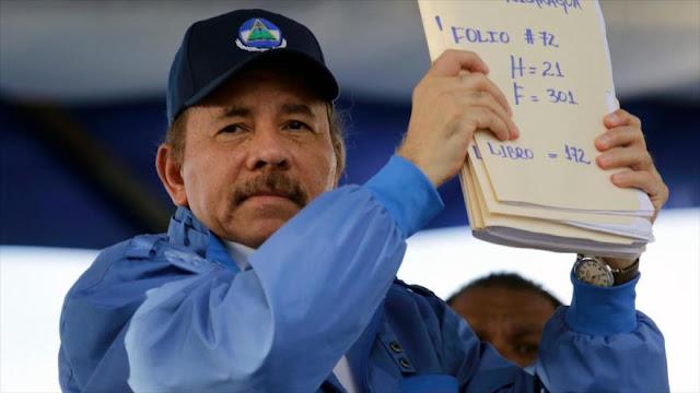 Ortega acusa a EEUU y al narco de armar grupos violentos