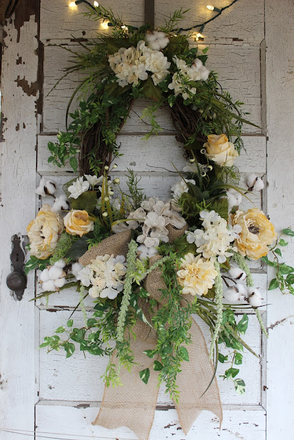 neutral colored wreath