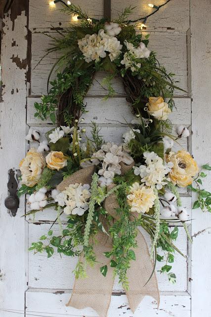neutral colored wreath