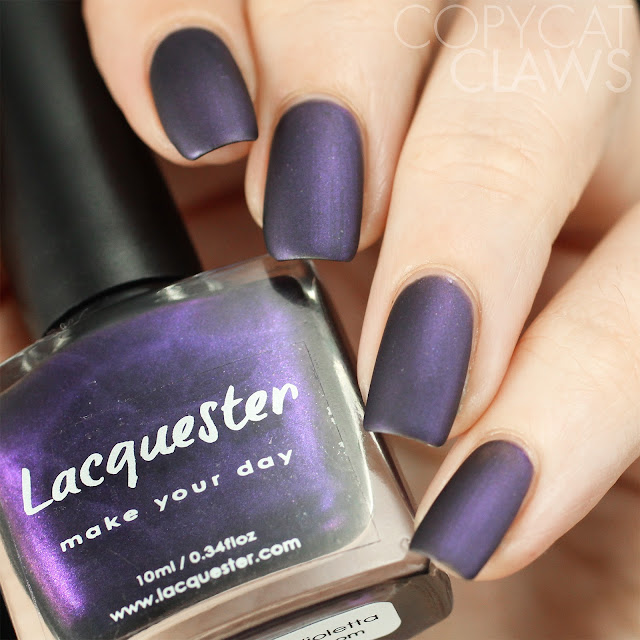 Lacquester Dark Days Violetta Swatch Matte