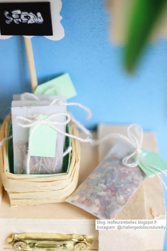 Miniatures de sachets de graines