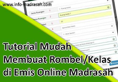 Tutorial Mudah Membuat Rombel/Kelas di Emis Online Madrasah