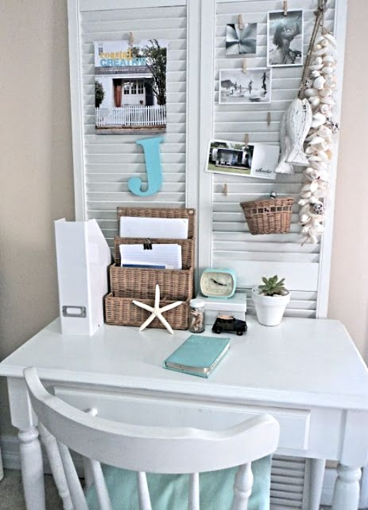 Small Coastal Living Office Nook Designs