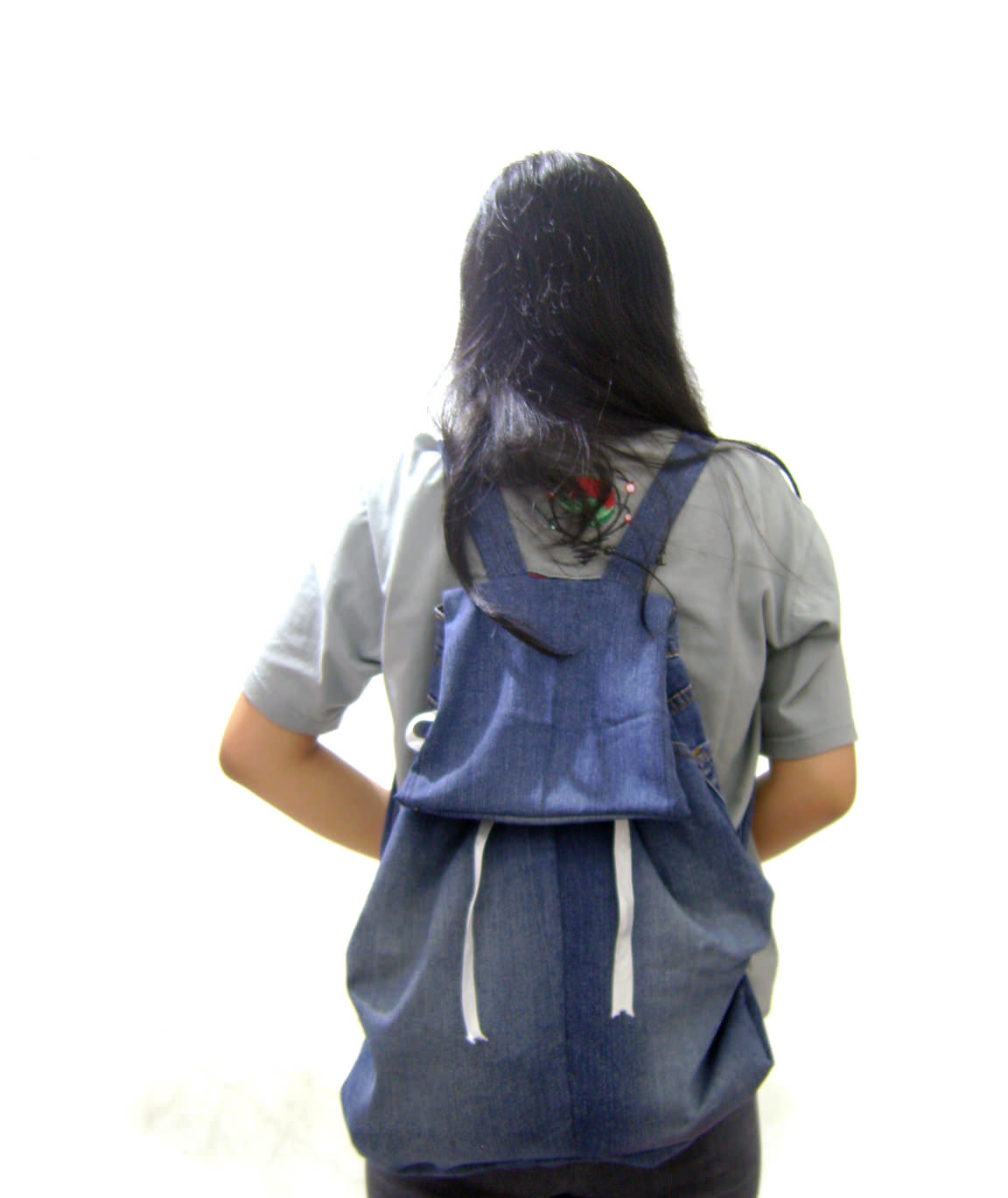 Back to School DIY Denim Backpack from Old Jeans