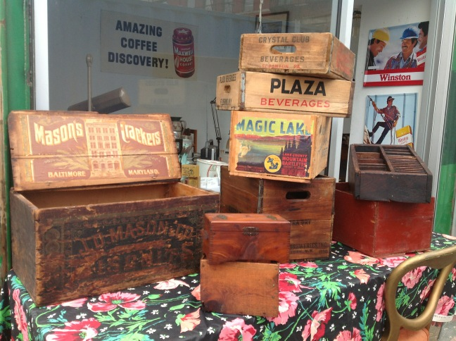 Stitch Therapy Brooklyn Decorating With Antique Wooden Boxes By