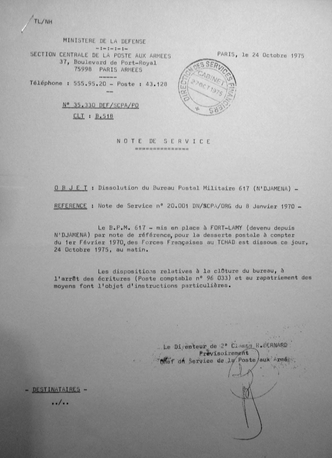 La poste aux armees le bureau postal militaire 617 de - Bureau central des archives militaires ...
