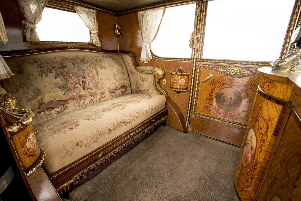 just a car guy: the interior of a 1926 rolls royce phantom brougham