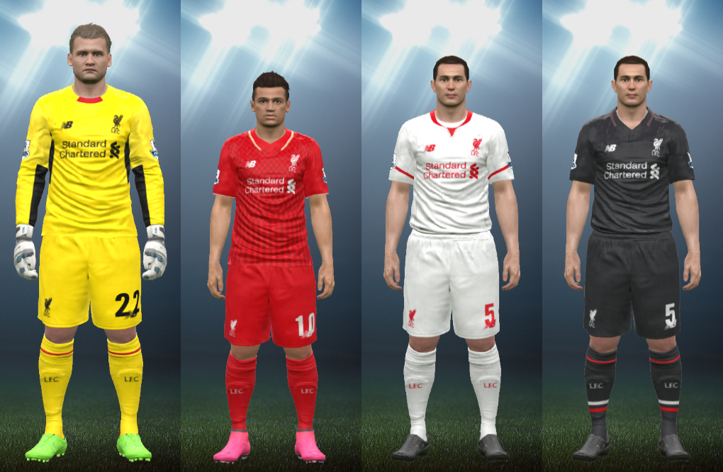 Wepes Sport Repost Uniforme Liverpool 2015 16 Pes 2016 Pc Ps3