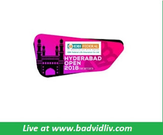 IDBI Federal Life Insurance Hyderabad Open 2018 live streaming