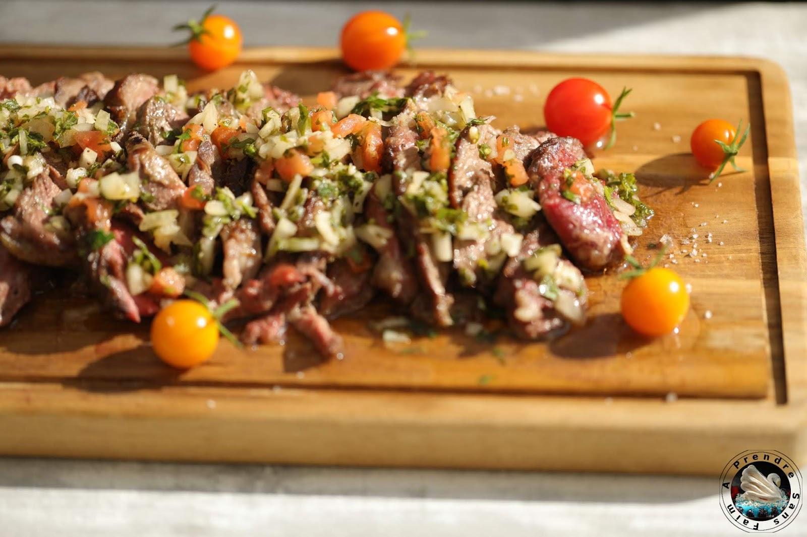 Côte de bœuf sauce chimichurri