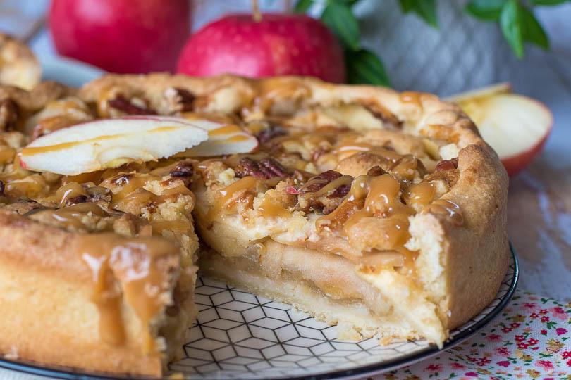 recette Tartes pommes crumble pécan